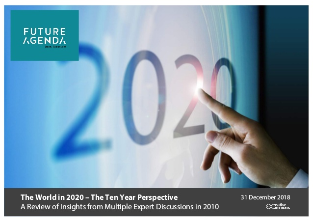The world in 2020 – The 10 year perspective